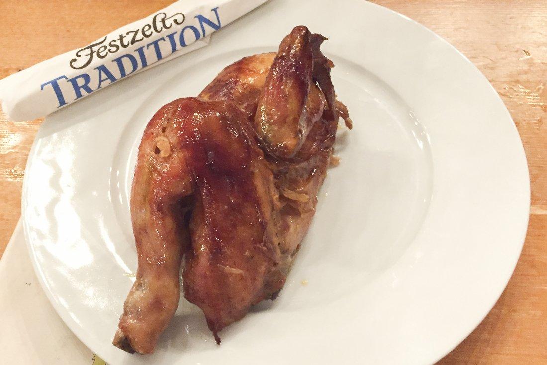 Half a grilled chicken
