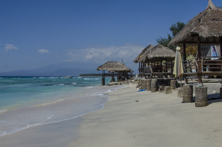Withe sand beach in Gili Trawangan