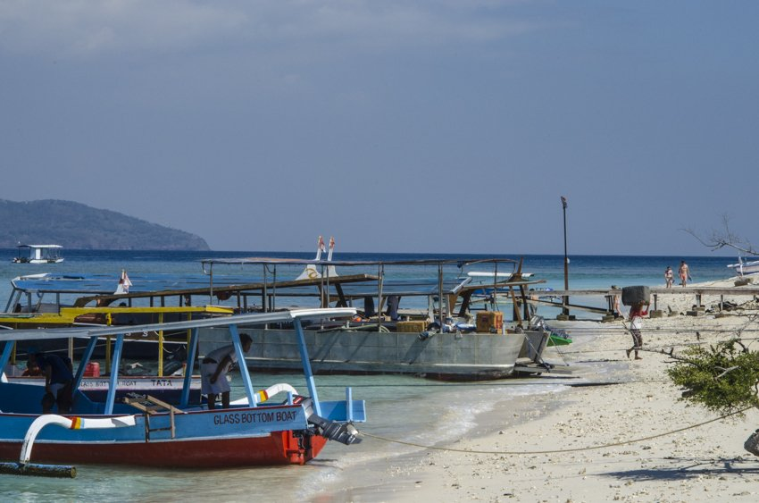 Boats ready for departure at Gili Trawangan