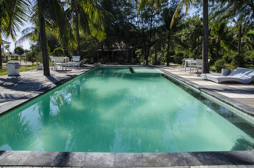 Swimming pool at Glli Eco Villas