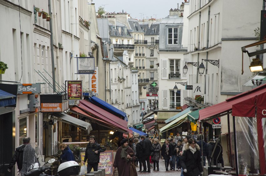 Rue Mouffetard on a Saturday Morning