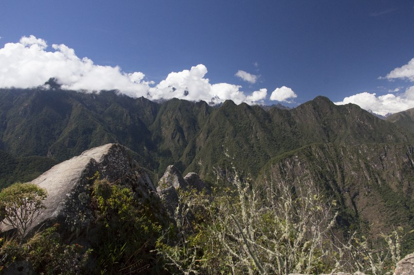 Views from the summit of Huayna Pichu to the north