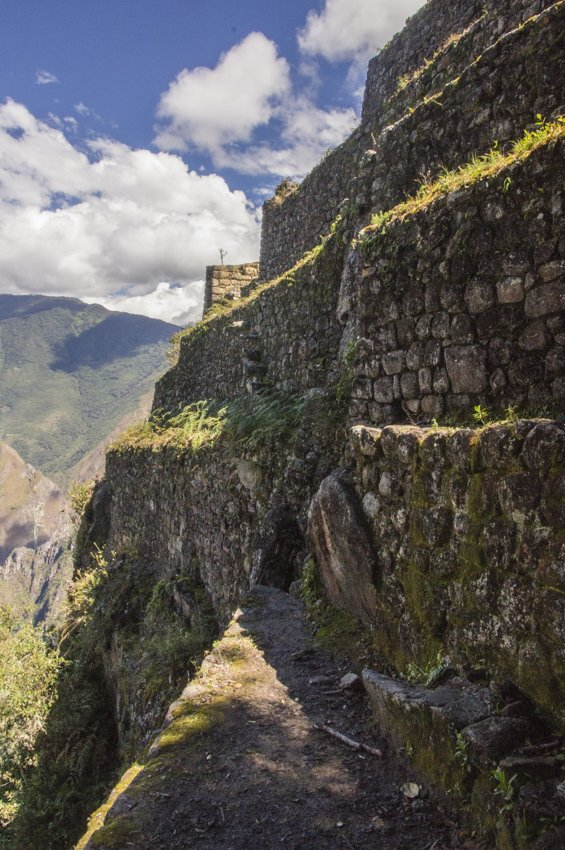 Terraces on the way down of Huayna Picchu
