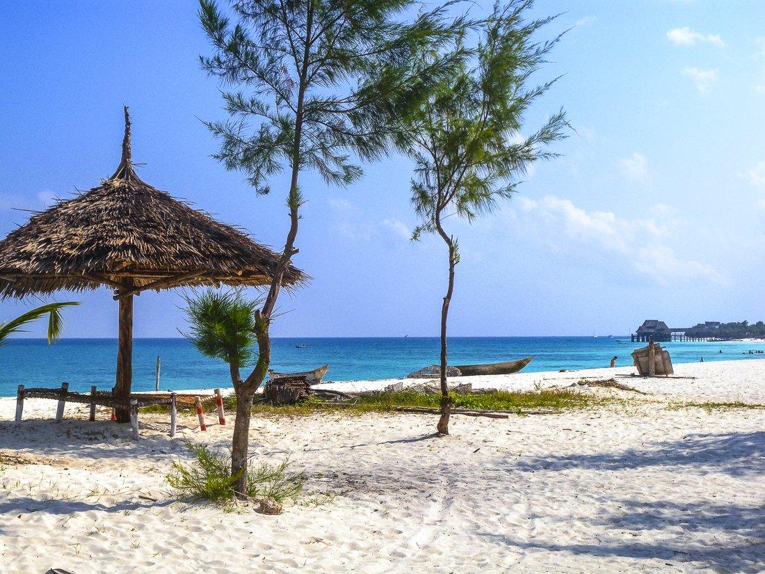 Relaxing on a beach in Zanzibar