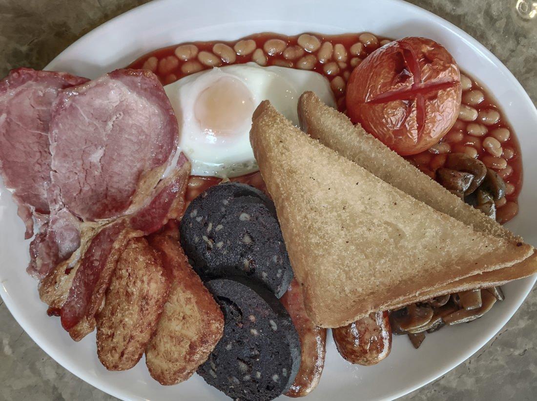 Big breakfast at Retro Cafe, Bath