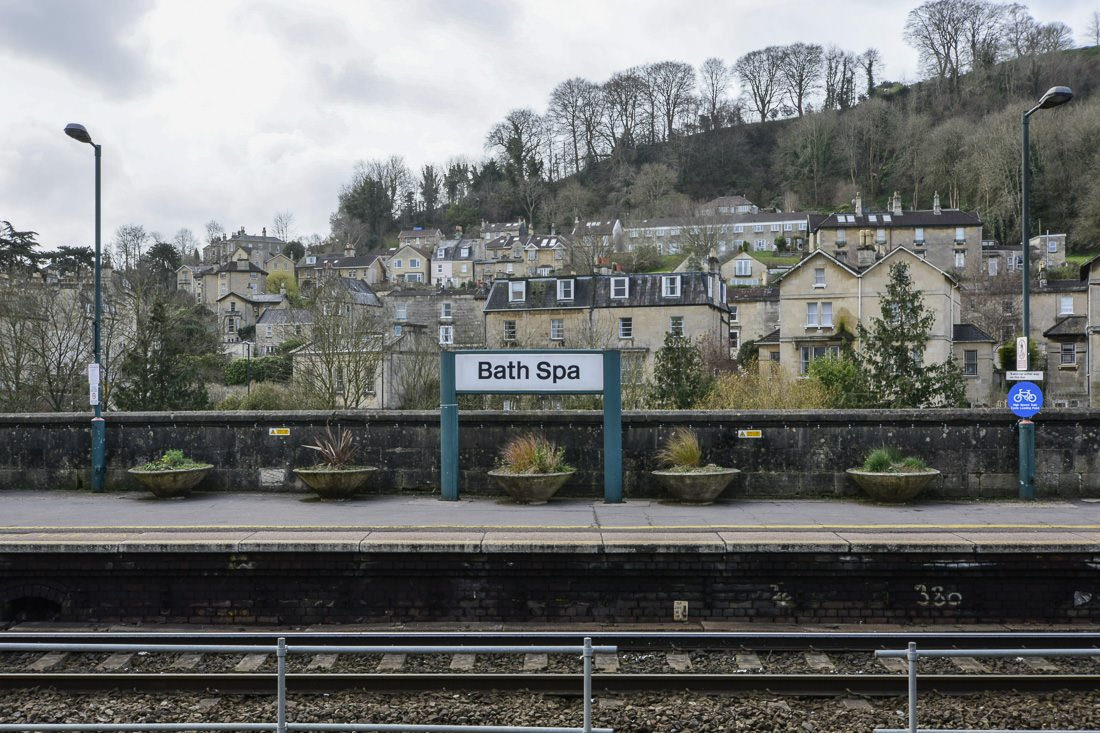 At the Bath Spa railway station