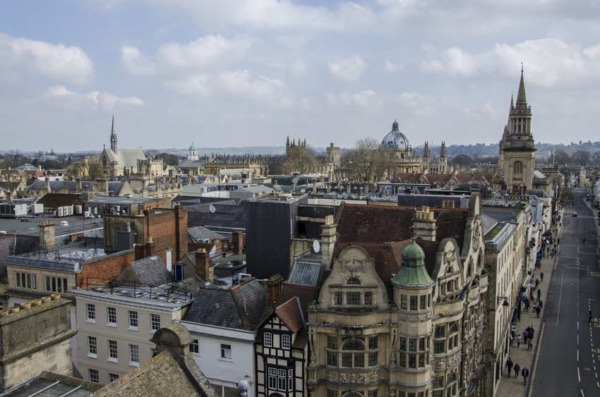 View of Oxford from the top of Carfax Tower