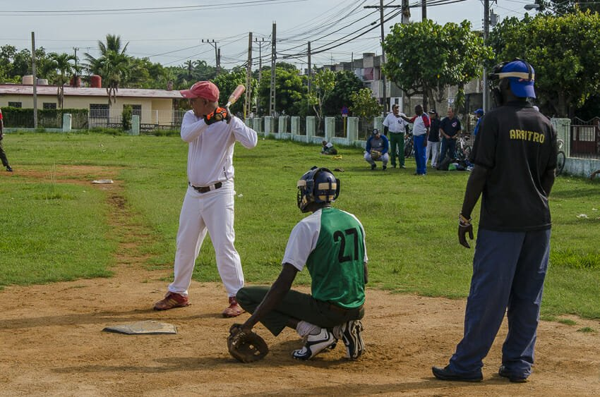 Local basbeall game in Cienfuegos - people
