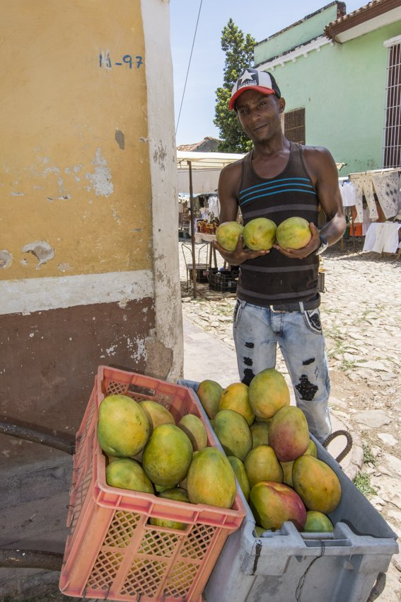 Selling the sweetest mangos, Trinidad - people