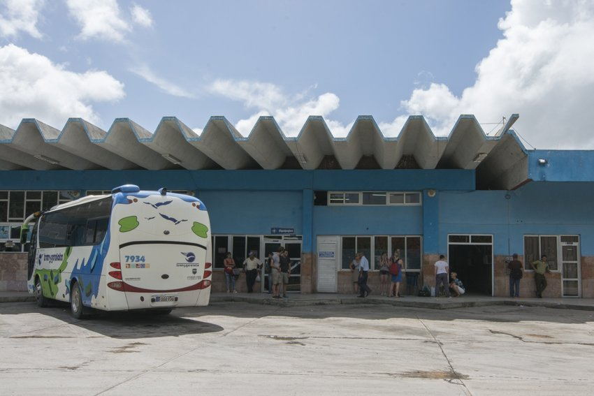 Waiting at Camagüey bus station, Cuba
