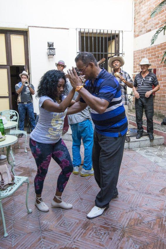 Dancing Salsa in Santiago de Cuba - people
