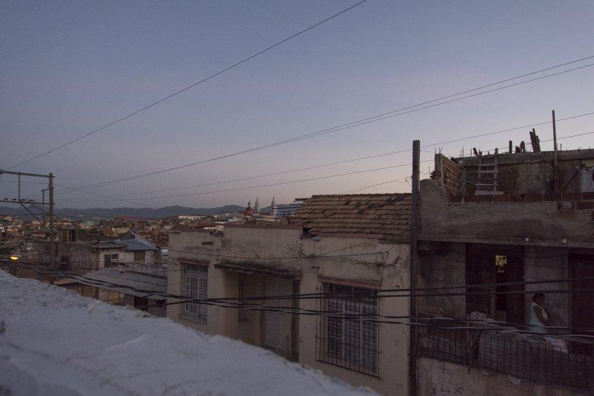 Views at sunset from our casa in Santiago de Cuba, after an adventurous bus trip