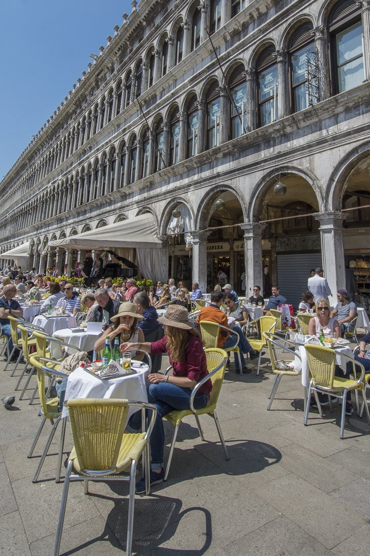 A terrace in Saint Mark's square