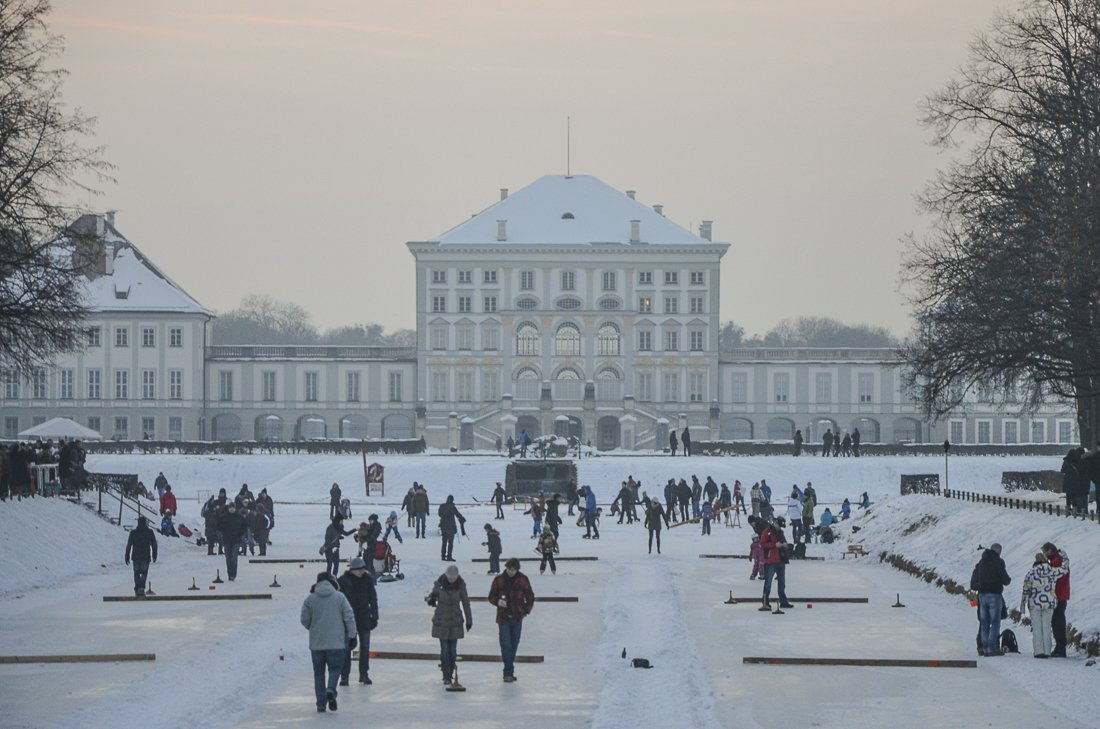 The Nymphenburg palace in winter