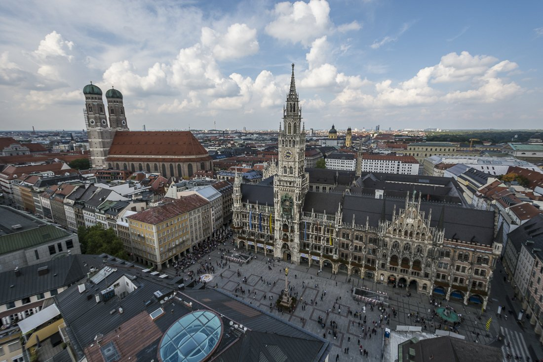 Marienplatz and Frauenkirchen in Munich