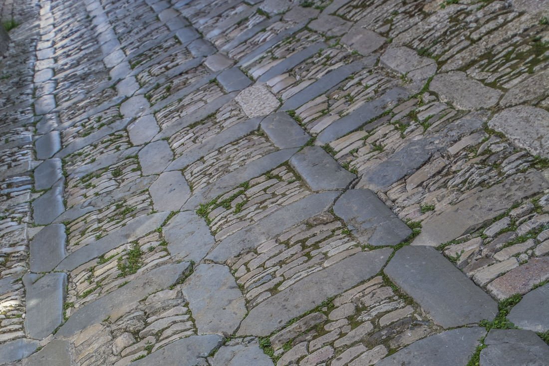Weather-polished cobblestones