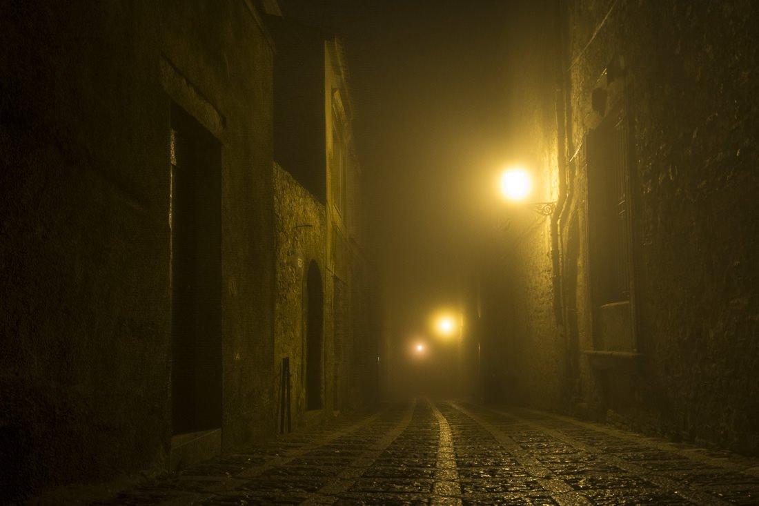 Eerie night street
