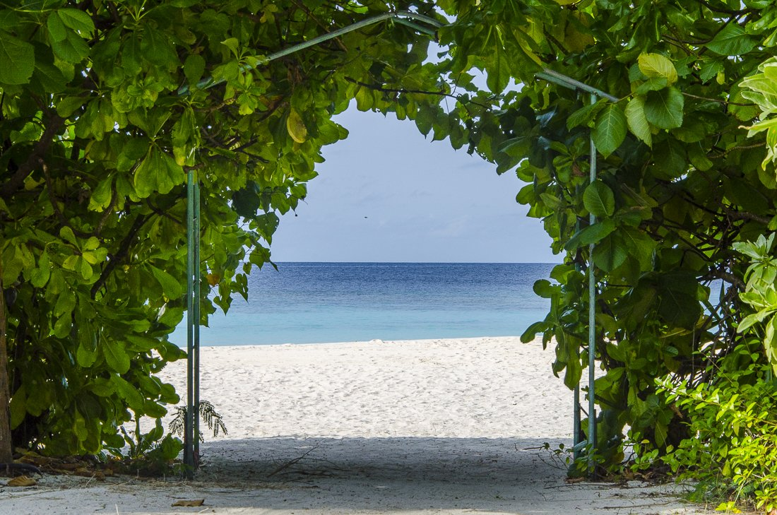 White sand beaches and crystal clear waters