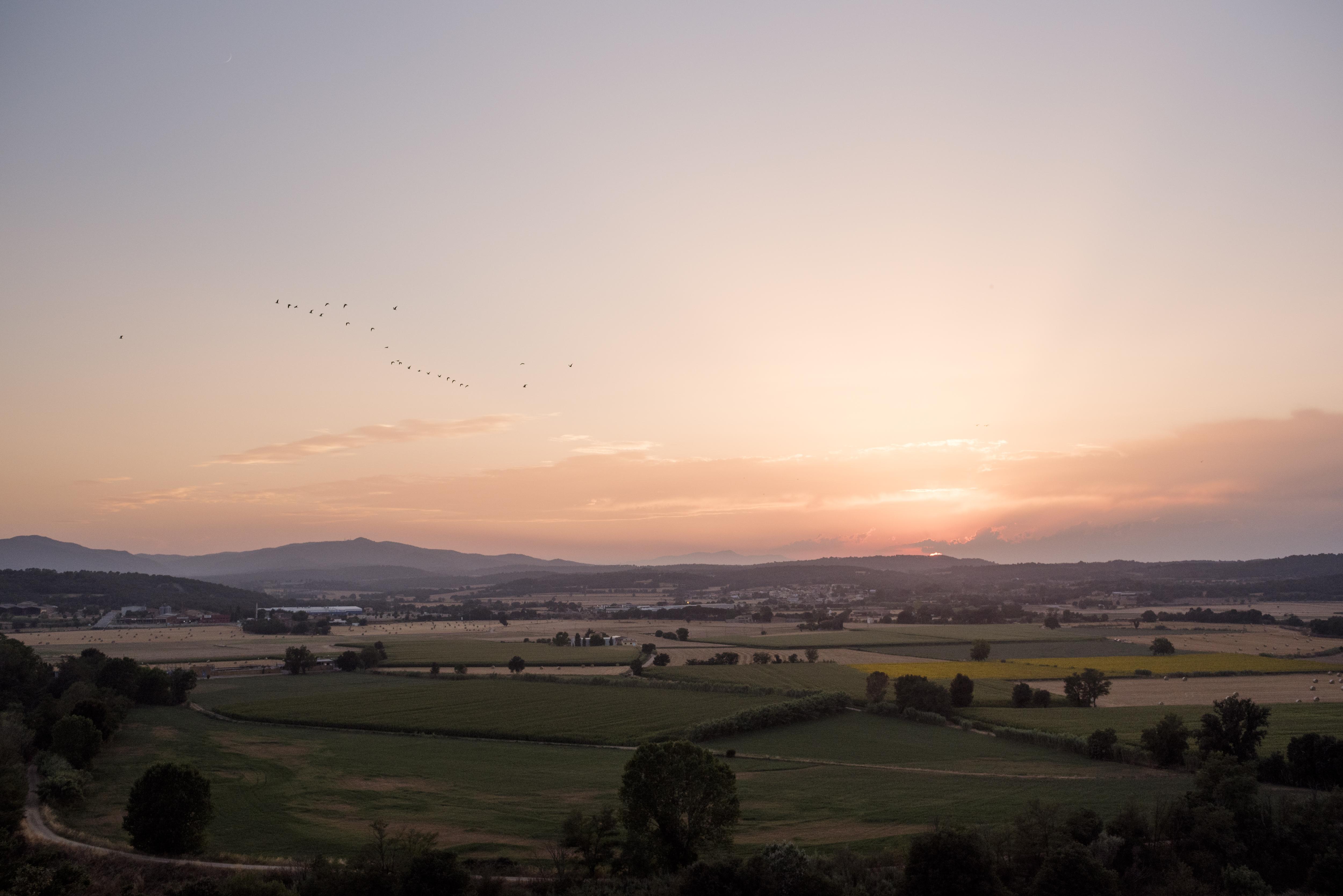 Sunset at Castell D'Empordà