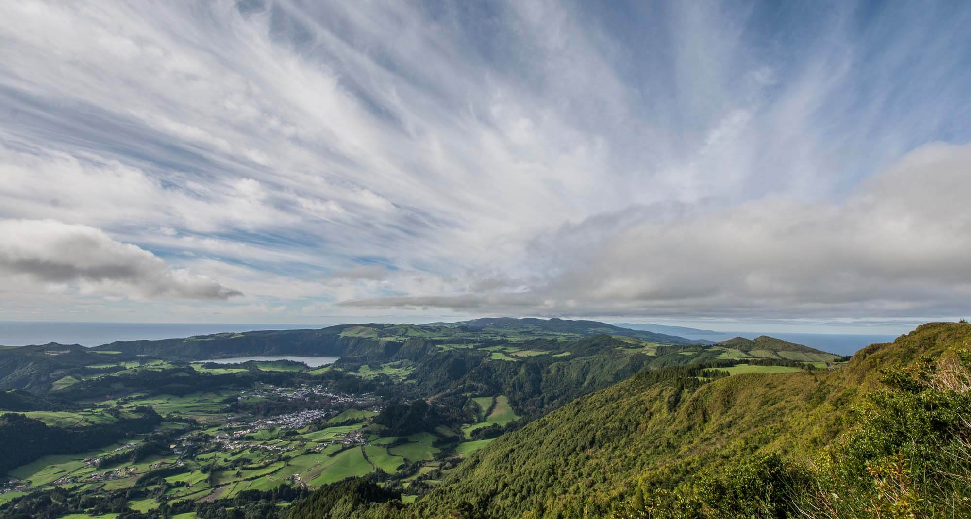 Views from Salto do Cavalo lookout, Sao Miguel
