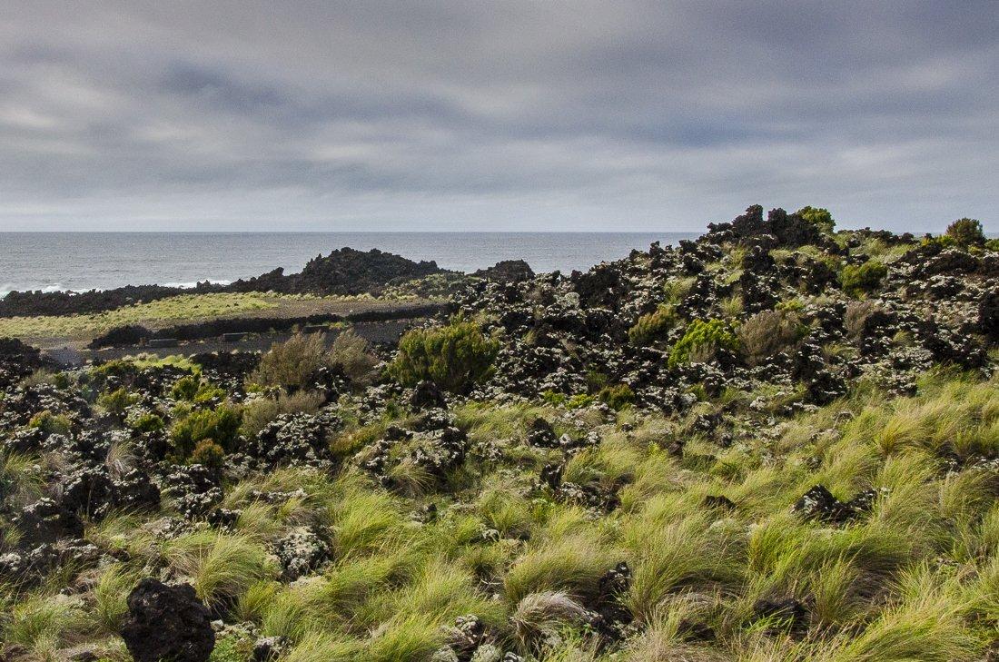 Lava filled landscape at Ferraria