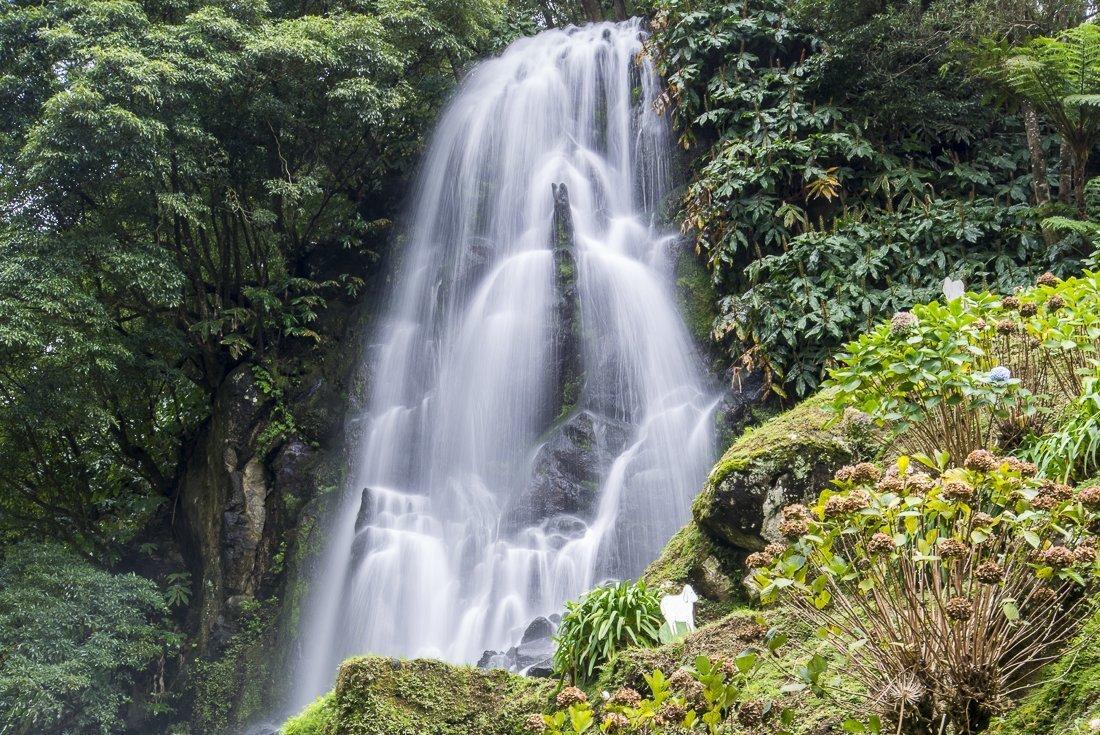 Waterfall at Parque Natural da Ribeira dos Caldeirões
