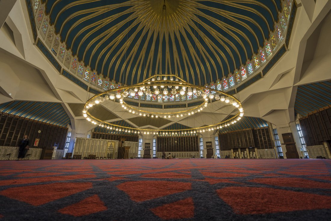 Inside King Abdullah Mosque