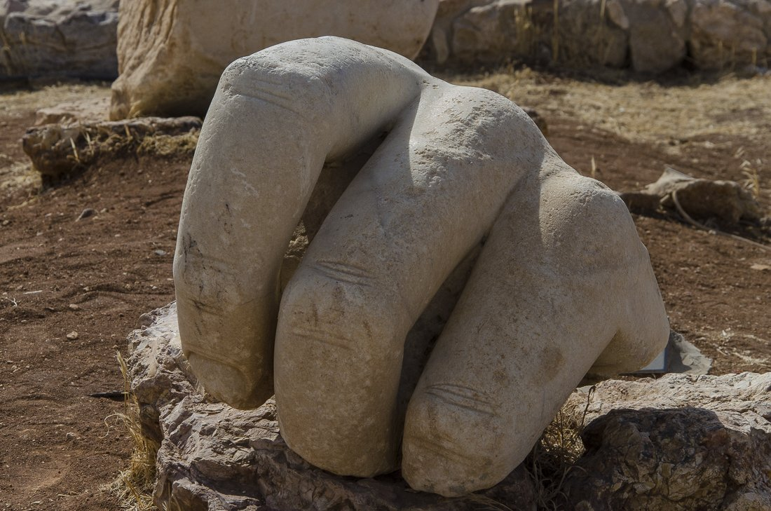 A giant hand found at The Citadel
