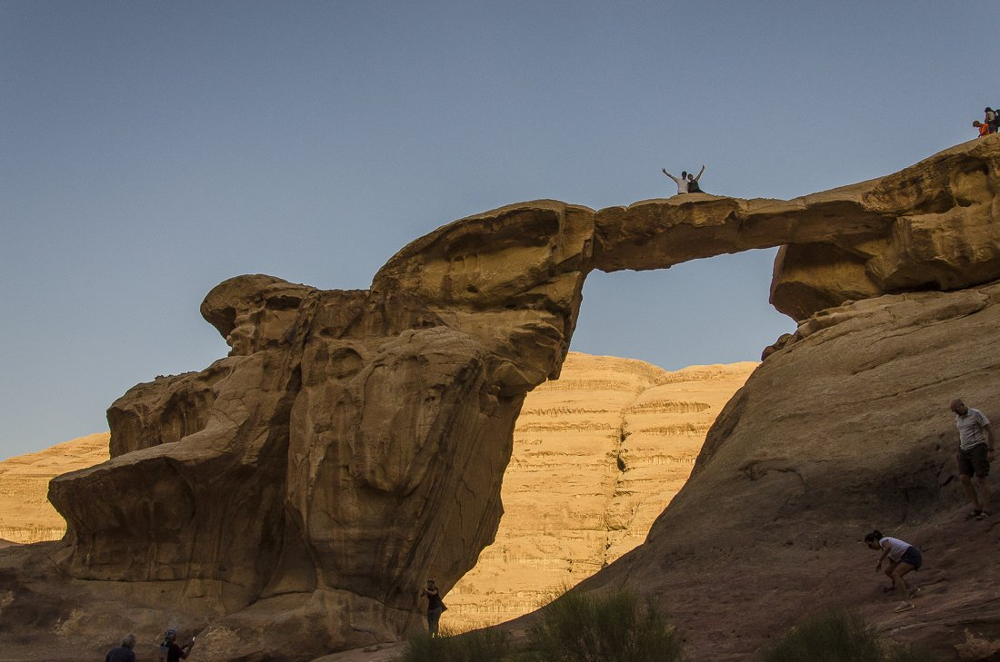 Countless naturally carved arches can be found throughout Wadi Rum