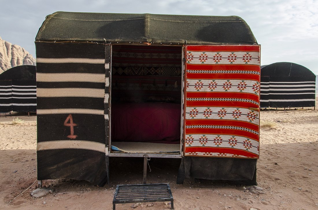 Our cute little tent in Wadi Rum