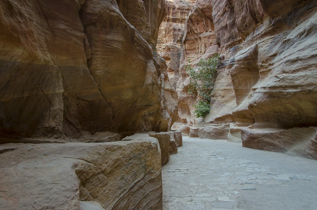 The colours of the sandstone are constantly changing with the light