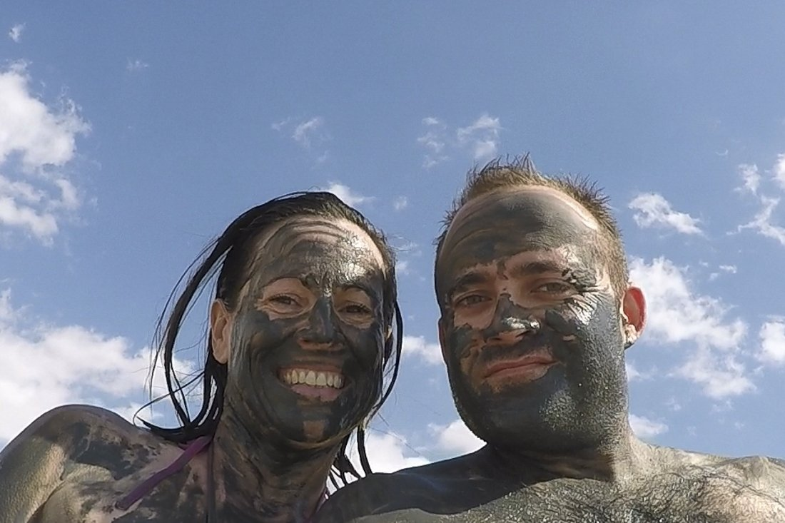 Covering ourselves in Dead Sea mud