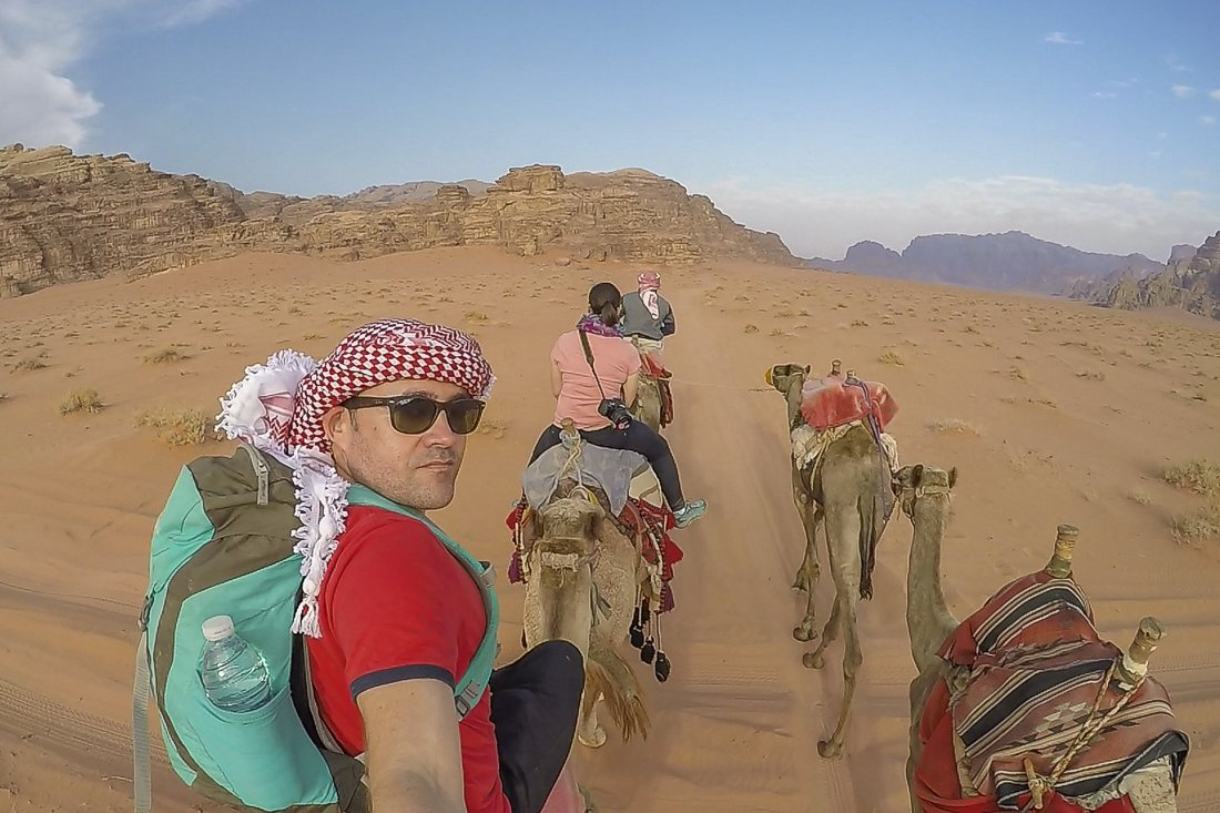 Camel ride back to civilisation