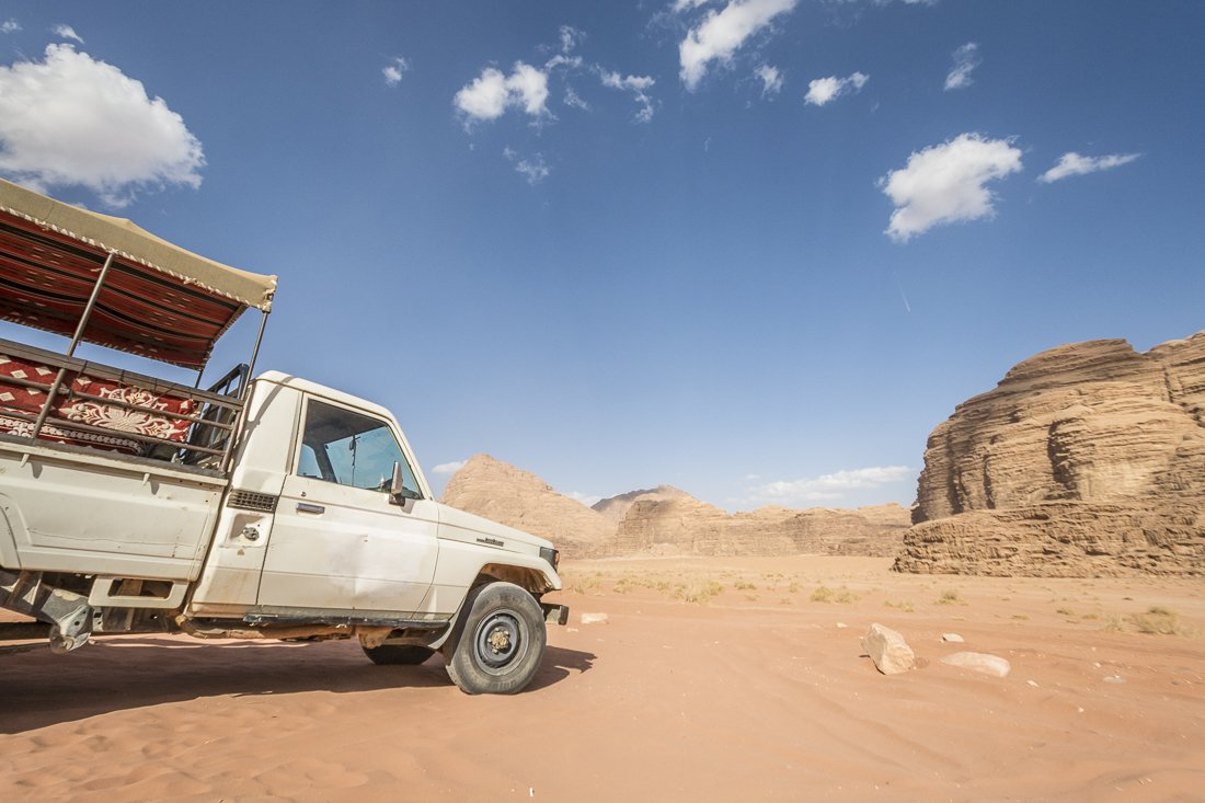 Stopping for lunch at Wadi Rum