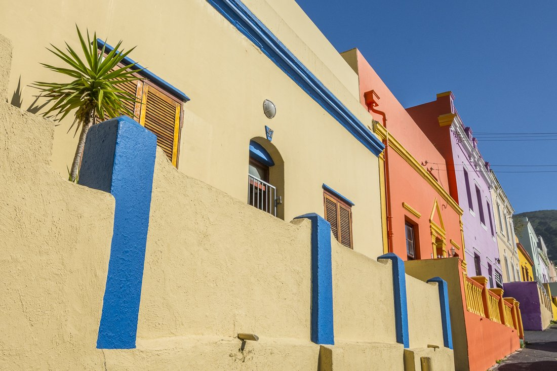 Colourful houses in Bo-Kaap, Cape Town
