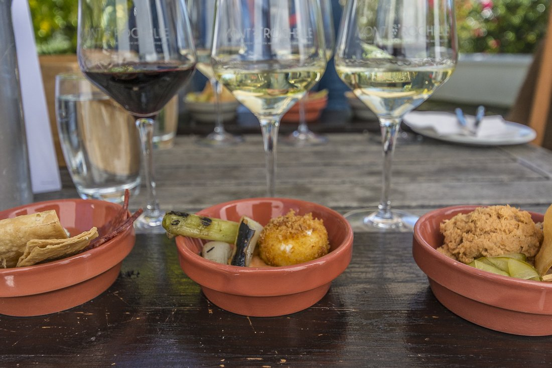 Wine and tapas pairing at Mont Rochelle Winery, Franschhoek