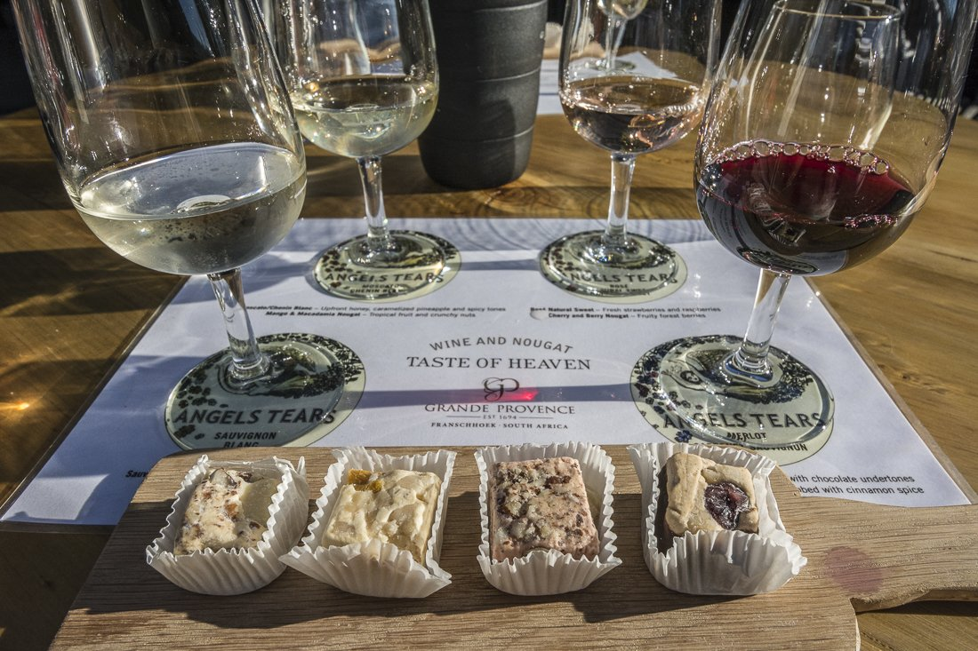 Wine and nougat pairing at Grand Provence Winery, Franschhoek