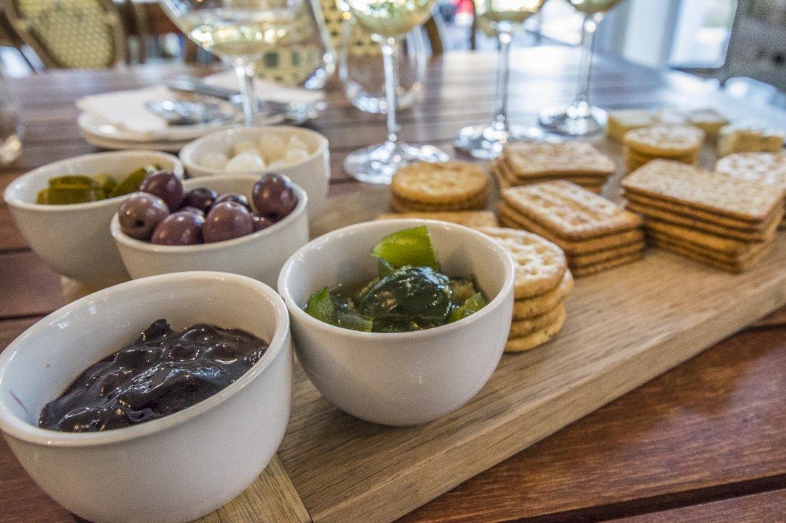 Cheese platter at Rickety Bridge Winery, Franschhoek