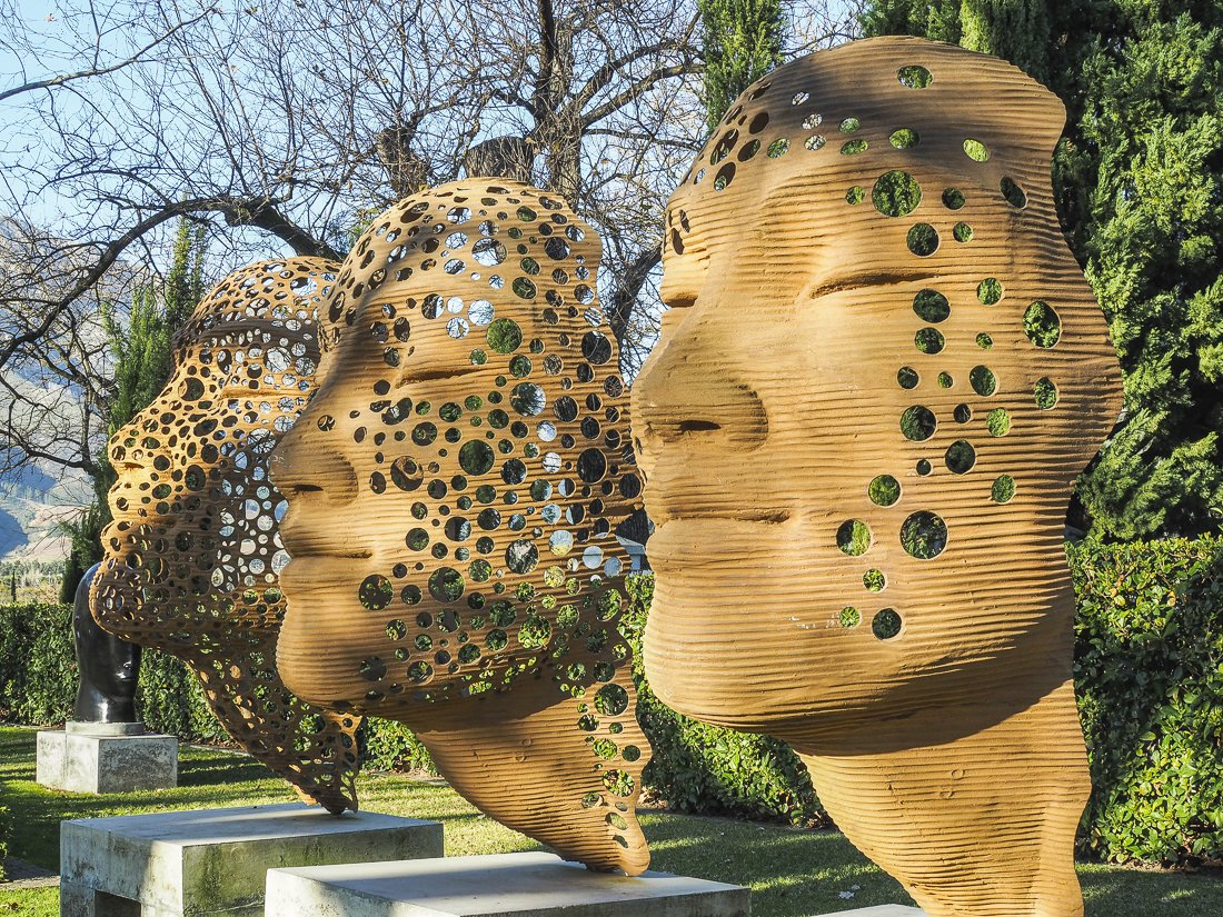 Sculpture garden at Grand Provence