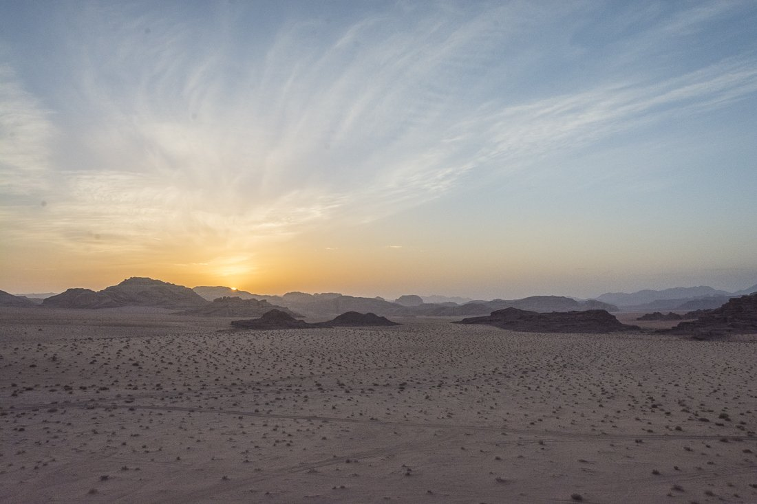 Wadi Rum at dawn