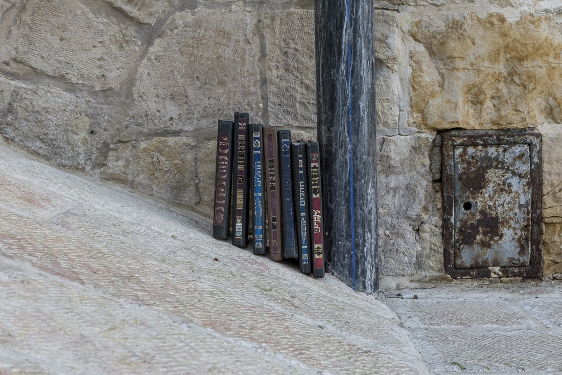 Prayer books at the Western Wall