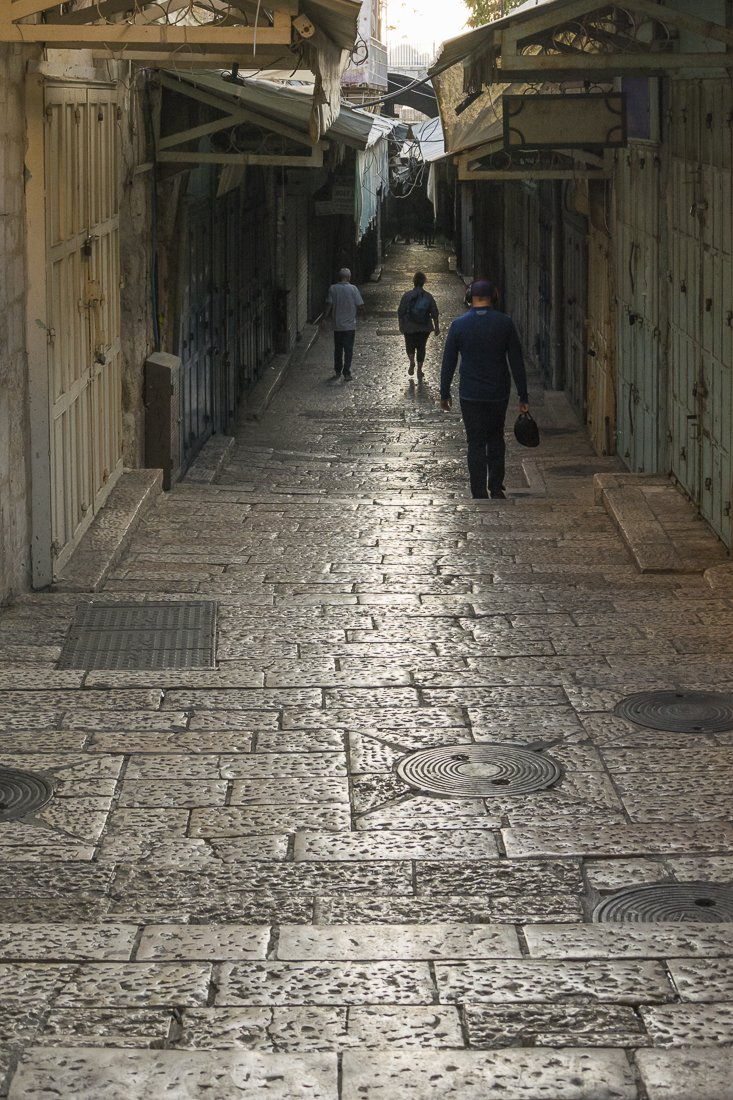 Staired street in Jerusalem's Old city