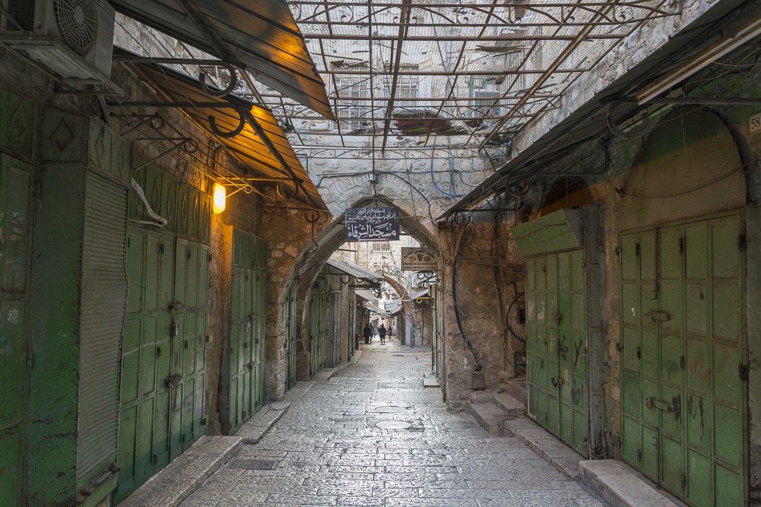 Street in the Muslim Quarter, Jerusalem's Old city