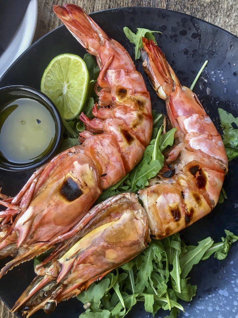 Mouth watering king prawns at Ronda