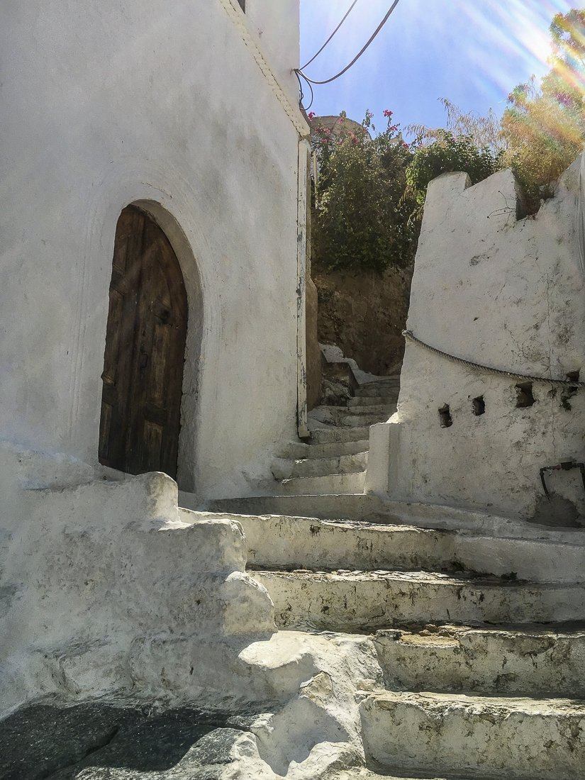 Making our way up to the citadel via the back streets