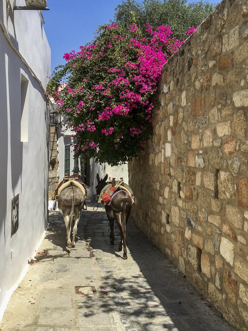 Wandering the winding streets of Lindos